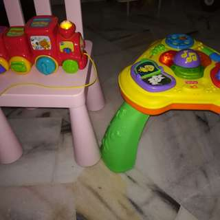 Fisher Price Activity Table and vtech train