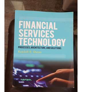 Financial Services Technology by Randall Duran - Compulsory reading for SMU Finance Students