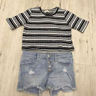 Mango Top + H&M Denim Short