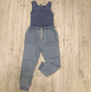 Zara Top + Cotton On Jogger Pant