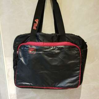 FILA Sports Gym Bag (Black/ Red) 運動袋 黑紅