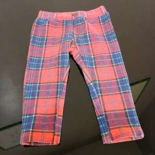 Boy's Red Chequered Patern Pant (6-12m)