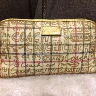 Authentic Coach Cosmetic Pouch