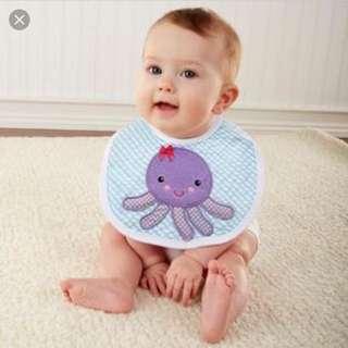 Baby Aspen bib and burp cloth gift set