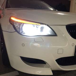 E60 Original Hella Headlights