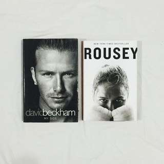 Athletes Memoir (David Beckham and Rhonda Rousey)