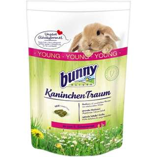 Young bunny food