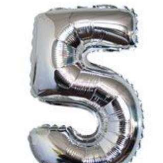 40 inch number 5 balloon