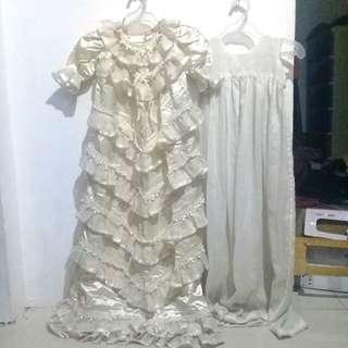 Cream White Baptismal/Christening Gown