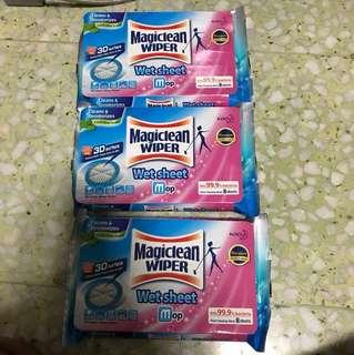 Magiclean Wiper Wet Sheet Mop