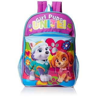 SALE! BRAND NEW Nickelodeon Girls' Paw Patrol Rainbow 16 Inch Backpack