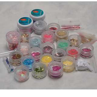 NAIL Art Deco Accessories Glitter Beads Confetti CLEARANCE SALE