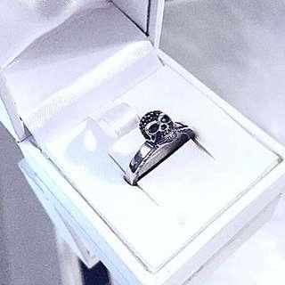 Authentic Thomas Sabo Rebel At Heart Crystal Skull Silver Ring