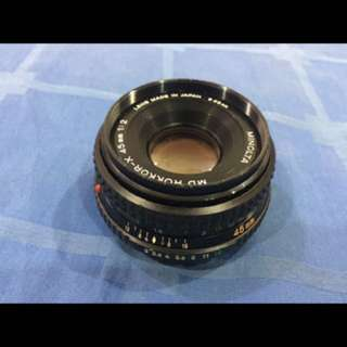 minolta rare pancake f2/45mm lense