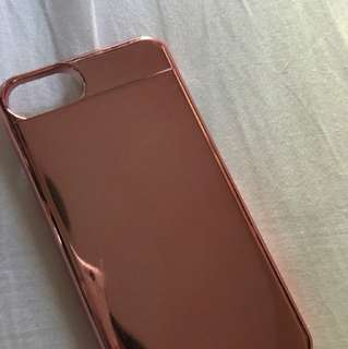 iPhone 7 Rose Gold Sliding Mirror Phonecase