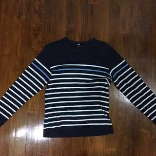 Uniqlo Breton Stripe Long Sleeve T-shirt Size S