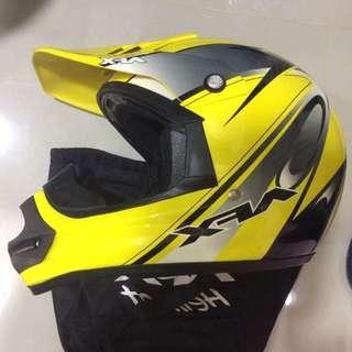 AFX FX-9 SPIN 黑黃彩繪越野安全帽 全可拆內襯 雙D扣