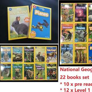 National Geographic kids pre-reader + level 1