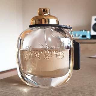 Coach perfume EDPS woman 90ml 65% left original RRP $135 fragrance
