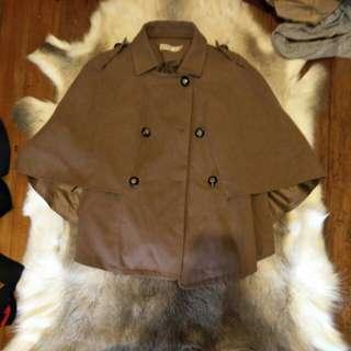 Tweed cape coat