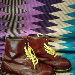 Dr.Martens Red Cherry 1460 maroon minus bokong airwair buntung, overall mulus,made in england (double stitch) 8hole  Size 4 Kondisi 90%