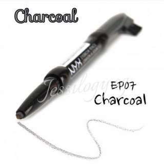 INSTOCK NYX Auto Eyebrow Pencil with Brush in CHARCOAL / NYX Cosmetics Auto Eye Brow Pencil with Brush CHARCOAL