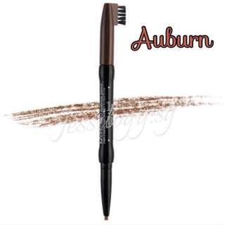 INSTOCK NYX Auto Eyebrow Pencil with Brush in AUBURN / NYX Cosmetics Auto Eye Brow Pencil with Brush - AUBURN