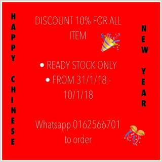 Chinese New Year 10% Discount