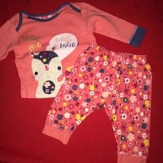 Mothercare set leggings and long-sleeved tee  up to 3 months BABY CLOTHES