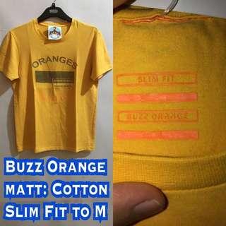 Buzz Orange - Tshirt Slim Fit