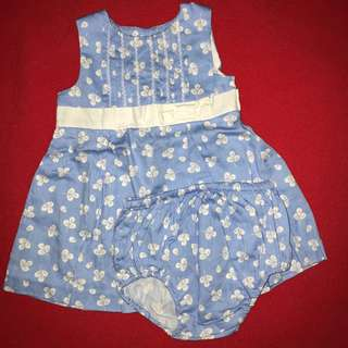 Periwinkle blue dress 6month with matching shorts  BABY CLOTHES