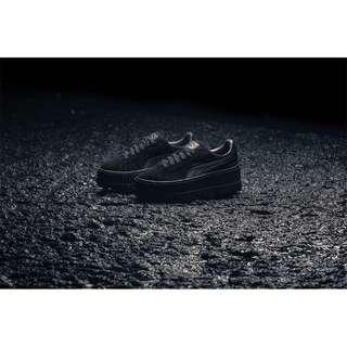 🚚 PUMA x Rihanna FENTY CLEATED CREEPER366268-04蕾哈娜麂皮厚底松糕鞋全黑土黃色