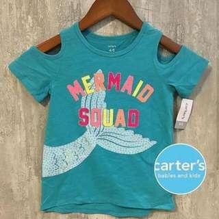 Baju Atasan Anak Perempuan Carters Mermaid Squad