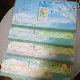 2001年郵展大自然小型張,第五至八號