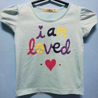 Free ship cute shirt 2T