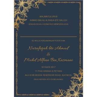 Wedding Invitation Card Design + Print