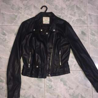 Zara leather jacket