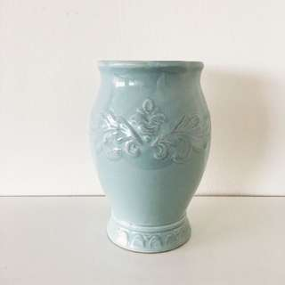 Mint Green Ceramic Vase