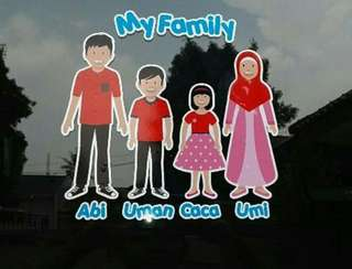 Sticker family mobil