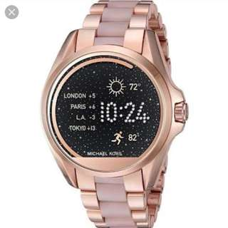 MK Michael Kors Bradshaw Rose Gold Acetate Smartwatch