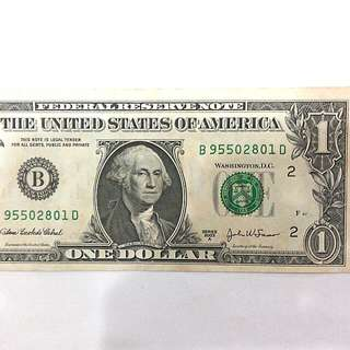2003A US One Dollar Bill (NEW YORK)