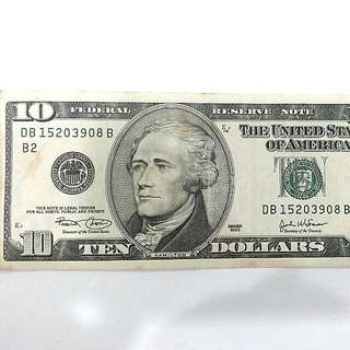 2003 US Ten Dollar Bill
