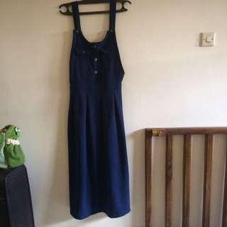 Overall Dress Dongker