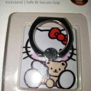 Hello Kitty & Bear Rotatable Handphone Ring Holder