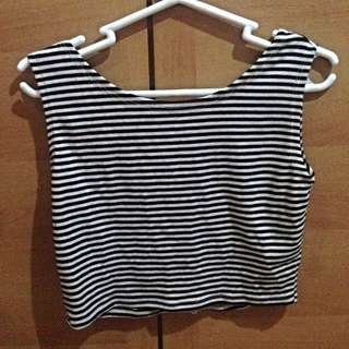 Cropped Striped Top
