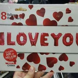 Letter set i love you