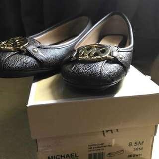 (BNIB) Sepatu flats michael kors fulton brown original