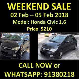 SALE WEEKEND Honda Civic
