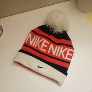 Pink nike winter hat