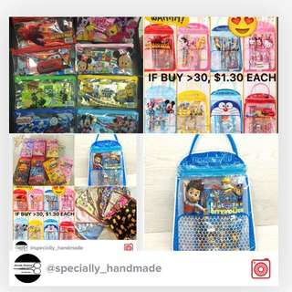 INSTOCK GOODIE BAG/ PARTY SUPPLIES/ STATIONERY SET / CRAYON STICKER BALLOON